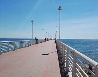 The pier of Marina di Massa